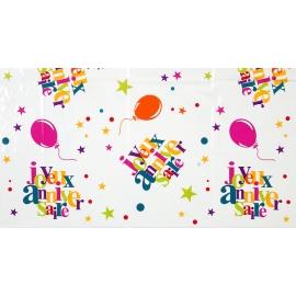 Nappe joyeux anniversaire - Festif multicolore