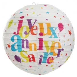 Lanterne joyeux anniversaire - Festif multicolore