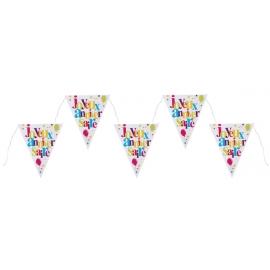 joyeux anniversaire - Festif multicolore