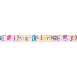 Petit ruban joyeux anniversaire - Festif multicolore