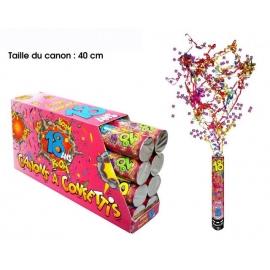 Canon à confettis 40cm - joyeux anniversaire x1
