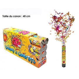 Canon à confettis 40cm - 18 ans x1