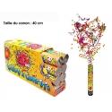 Canon à confettis 40cm - 20 ans x1