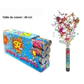 Canon à confettis 40cm - 50 ans x1