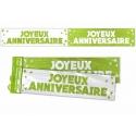 Bannière Joyeux anniversaire paillettes - Vert