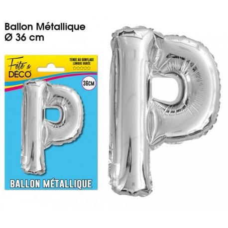 Ballon métallique argent 36cm - Lettre A