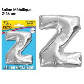 Ballon métallique argent 36cm - Lettre Z