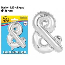 Ballon métallique argent 36cm - Symbole &