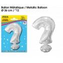Ballon métallique argent 36cm - Symbole ?