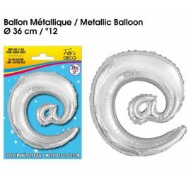 Ballon métallique argent 36cm - Symbole