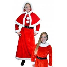 Déguisement Mère Noël longue luxe