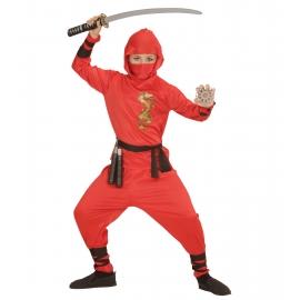 Déguisement Dragon Ninja rouge enfant