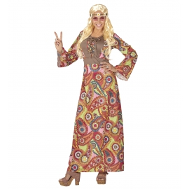 Déguisement Robe Hippie Flower Power