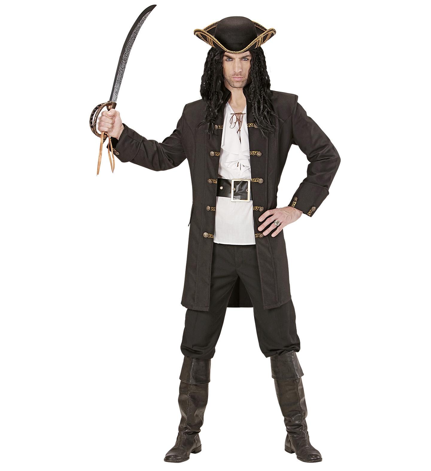 Capitaine Pirate Costume Homme Pirate Pirate Boucanier Costume Uniforme Manteau