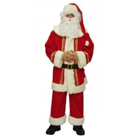 Déguisement Père Noël américain velours luxe