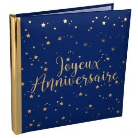Livre d'or Joyeux Anniversaire métallisé - Or