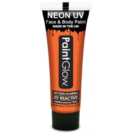 Maquillage corps et visage UV/Néon 13ml - Orange