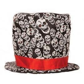 Chapeau Haut de forme têtes de mort