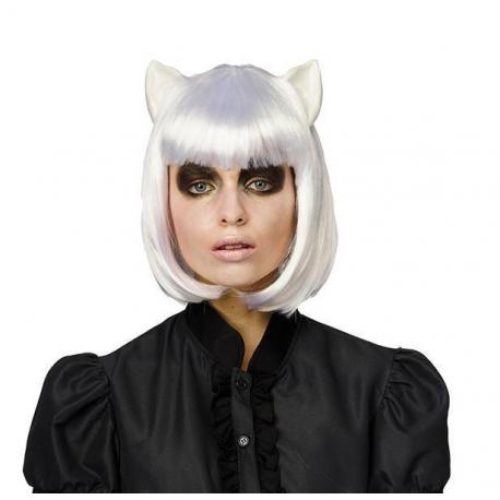 Perruques oreilles de chat blanc
