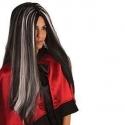 Perruque sorcière noire et grise