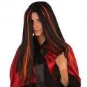 Perruque sorcière noire et orange