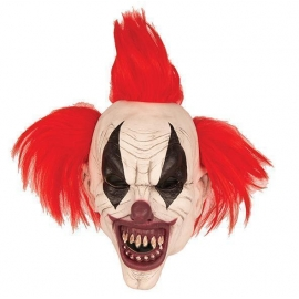 Masque latex Clown red black