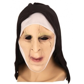 Demi masque latex diable avec cheveux