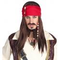 Perruque homme pirate des Caraibes
