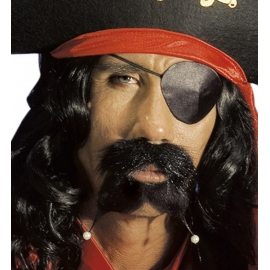Moustache et barbichette pirate