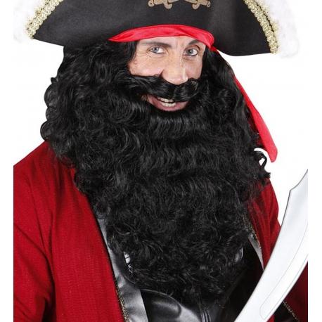 Barbe + moustache noire