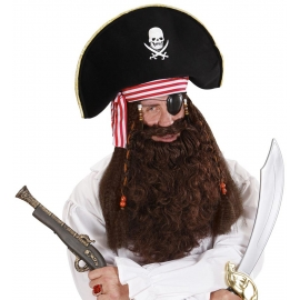 Maxi barbe brune de pirate