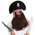 Maxi barbe brune de pirate