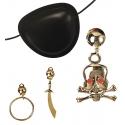 Set cache oeil et boucle d'oreille pirate