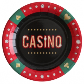 Assiettes Casino en carton x10