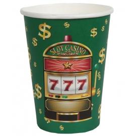 Gobelets Casino en carton x10