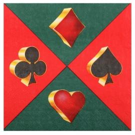 Serviettes casino x20