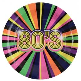 Asiettes 80's x10