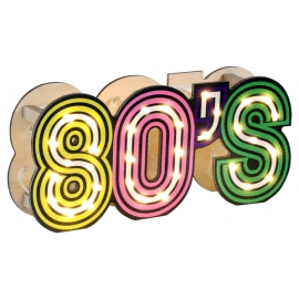 Lettres 80's lumineuses