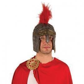 Casque pvc romain avec plumes