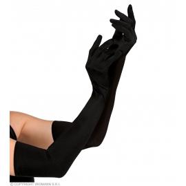 Gants longs noirs 60cm