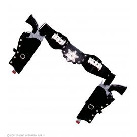 Double holster noir