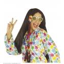 Lunettes hippie à fleurs
