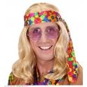 Perruque hippie homme blonde avec bandeau