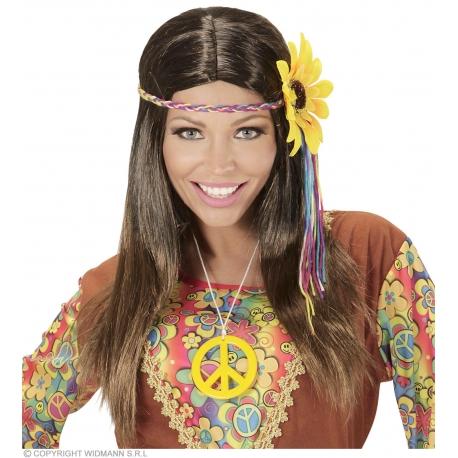 Perruque hippie femme blonde avec bandeau