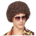 Perruque brune 70's Disco