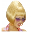 Perruque blonde party girl 70's