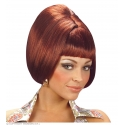 Perruque rousse party girl 70's