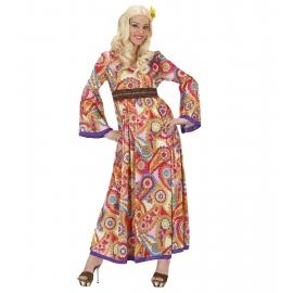 Hippie femme robe longue - Déguisement