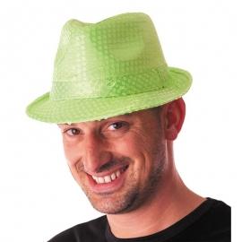 Chapeau funk paillettes néon vert