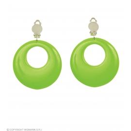 Boucles d'oreilles vert néon